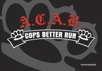 Aufkleber Cops better run