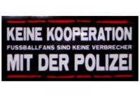 Aufkleber Keine Kooperation mit der Polizei 5er Pack