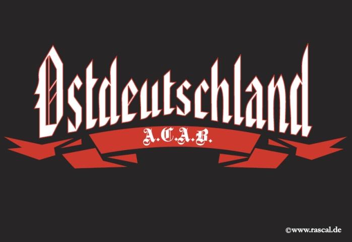Aufkleber Ostdeutschland A.C.A.B. 10er Pack