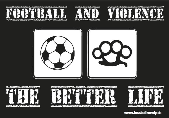 Aufkleber Football and Violence 10er Pack