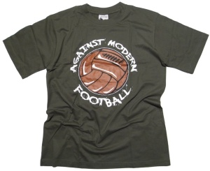 T-Shirt Against modern Football