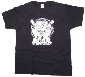 T-Shirt Stop Police Provocation A.C.A.B.