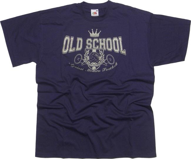 T-Shirt Old School Against Modern Football