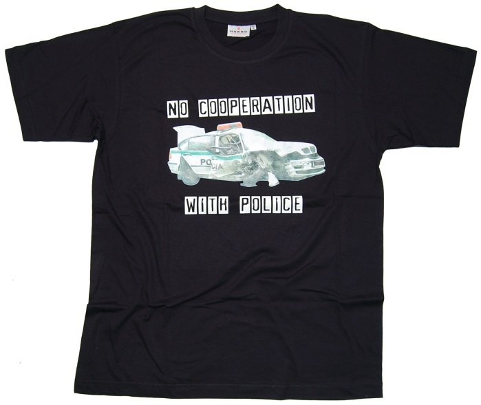T-Shirt No Cooperation With Police