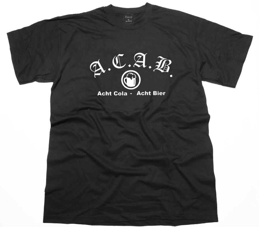 T-Shirt A.C.A.B. Acht Cola Acht Bier