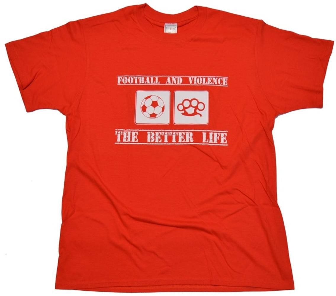 T-Shirt Football And Violence