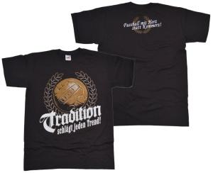T-Shirt Tradition Fussball mit Herz...