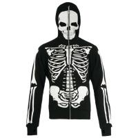 Full Zip Hoodie Skelett Jawbreaker