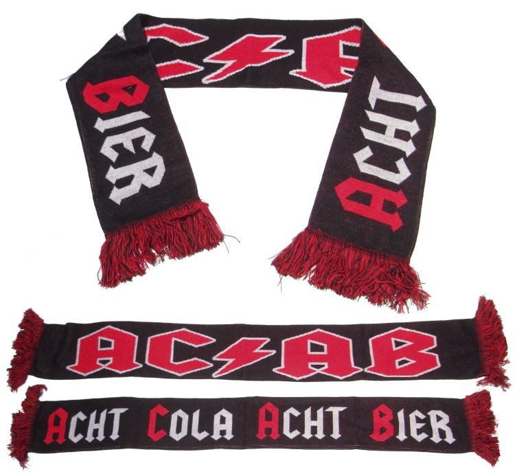 Schal Acht Cola Acht Bier A.C.A.B. !