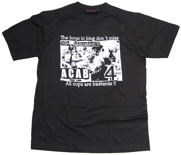 T-Shirt 4Skins the boys in blue ACAB