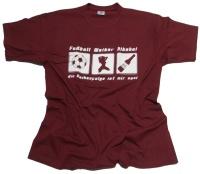 T-Shirt Fußball Weiber Alkohol G16