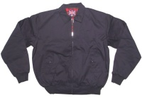 Warrior Sommer Jacke Harrington Style Jacke dunkelblau schöne englandstyle Sommerjacke mit karriertem Innenfutter