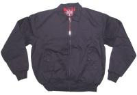 Sommer Jacke im Harrington Style schöne englandstyle Sommerjacke mit karriertem Innenfutter in navy