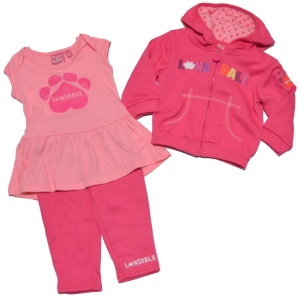 Lonsdale London Baby Set dreiteilig rosa