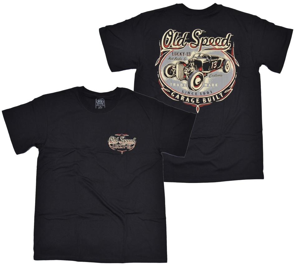 Lucky 13 t shirt old custom lucky 13 t shirts details for Custom t shirt shop online
