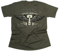 Lucky 13 T-Shirt Winged Piston