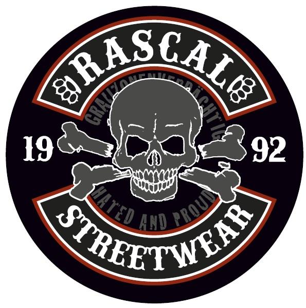 Aufkleber Rascal Streetwear rund