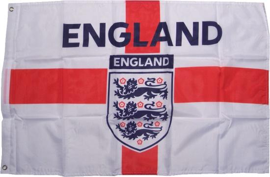 Fahne England mit L�wenwappen 3 Lions