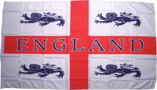 Fahne England mit 4 L�wen