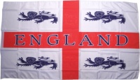 Fahne England mit 4 Löwen