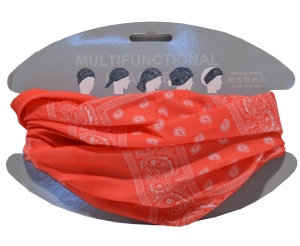 Multifunktions Tuch rot Paisleymuster
