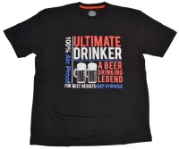 Obscene Clothing T-Shirt Drinker Biermotiv