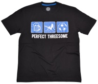 Obscene Clothing T-Shirt Perfect Treesome der perfekte Dreier Bier Weiber Fussball