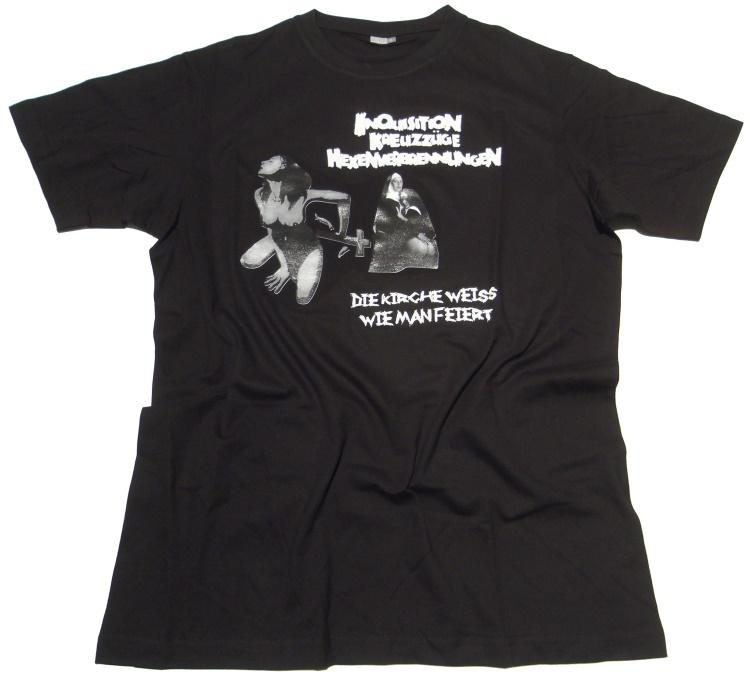 T-Shirt Die Kirche weiß wie man feiert