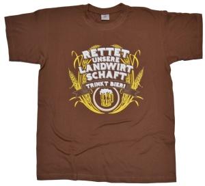 T-Shirt Rettet unsere Landwirtschaft trinkt Bier