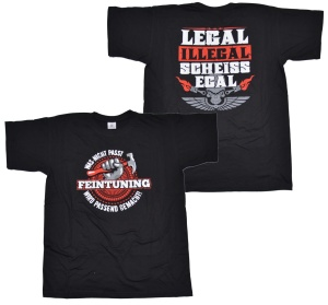 Racing Tuning T-Shirt Feintuning legal illegal scheissegal