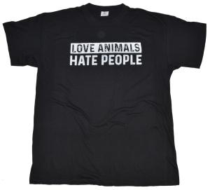 T-Shirt Love Animals Hate People RU