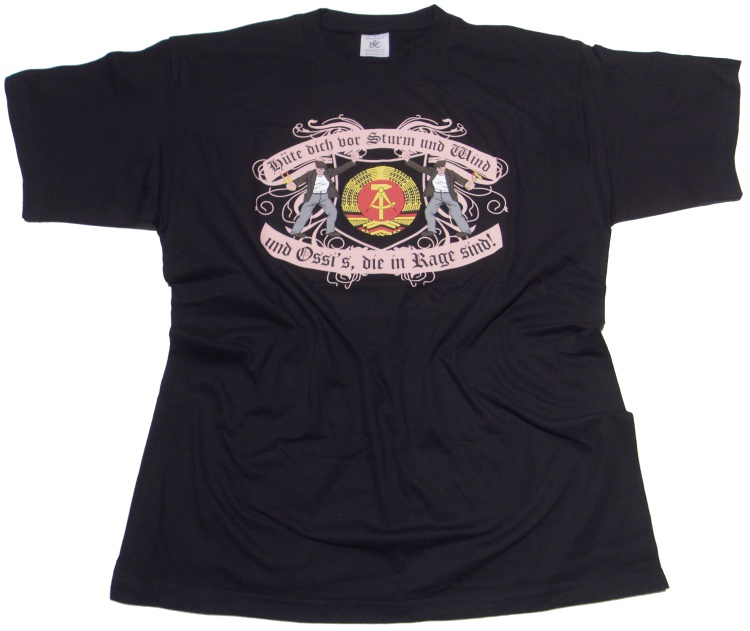 T-Shirt Ossis in Rage DDR