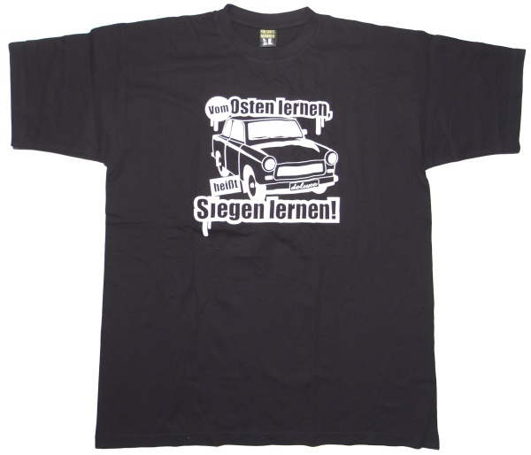 T-Shirt vom Osten lernen