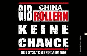 Aufkleber Anti China Roller