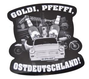 Aufkleber Goldi Pfeffi Ostdeutschland