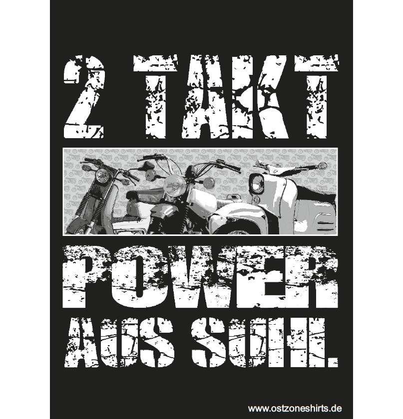 Aufkleber 2 Takt Power aus Suhl 10er Pack