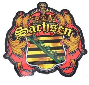 Aufkleber Sachsen Wappen