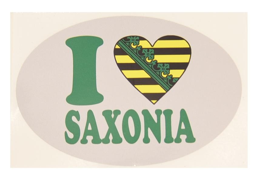 Aufkleber I Love Saxonia