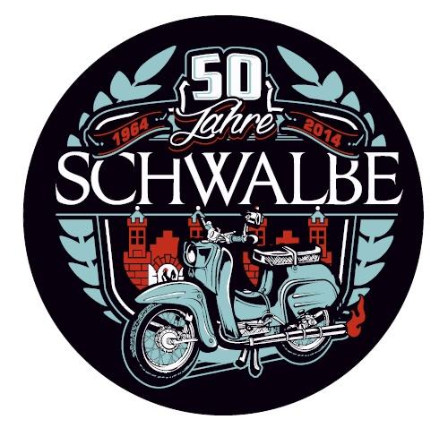 Aufkleber 50 Jahre Schwalbe