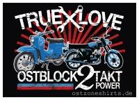Aufkleber True Love Ostblock 2 Takt Power 10er Pack