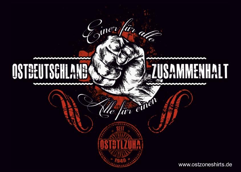 Aufkleber Ostdeutschland Zusammenhalt