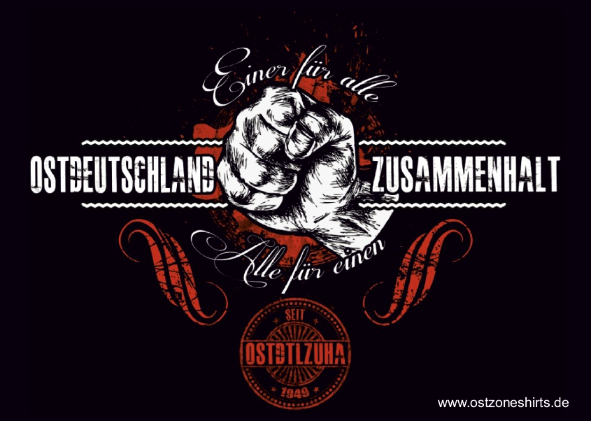 Aufkleber Ostdeutschland Zusammenhalt 10er Pack