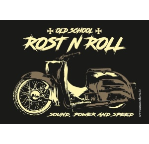 Aufkleber Rost N Roll Old School Sound Power and Speed