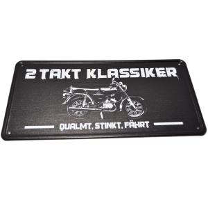 Aluminium Blechschild 2 Takt Klassiker Simson S51