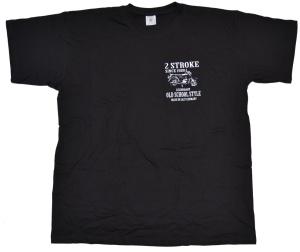 T-Shirt 2 Stroke Old School Style mit simson S51 Motiv klein K20