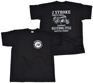 T-Shirt Ost-Mopeds 2 Stroke Old School Style K36 G517