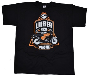 Simson Motiv T-Shirt Lieber Rost als Plastik G405