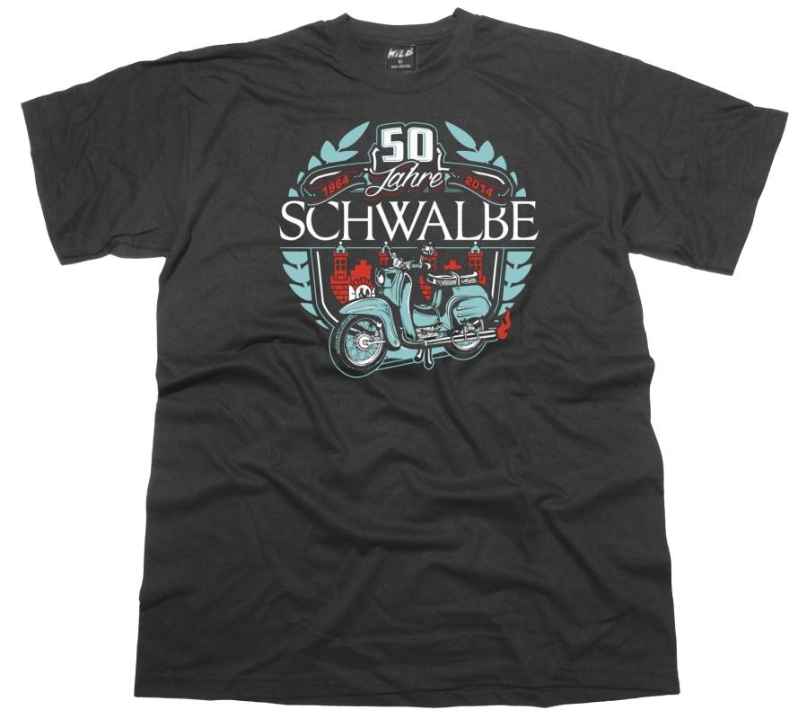 T-Shirt 50 Jahre Schwalbe