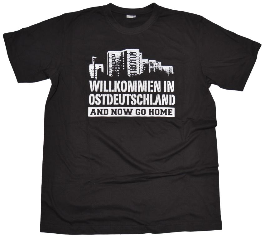 T-Shirt Willkommen in Ostdeutschland