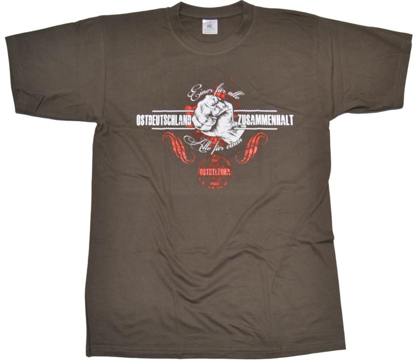 T-Shirt Ostdeutschland Zusammenhalt